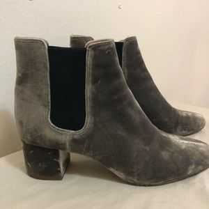 Madewell Shoes - Madewell silver/grey velvet booties